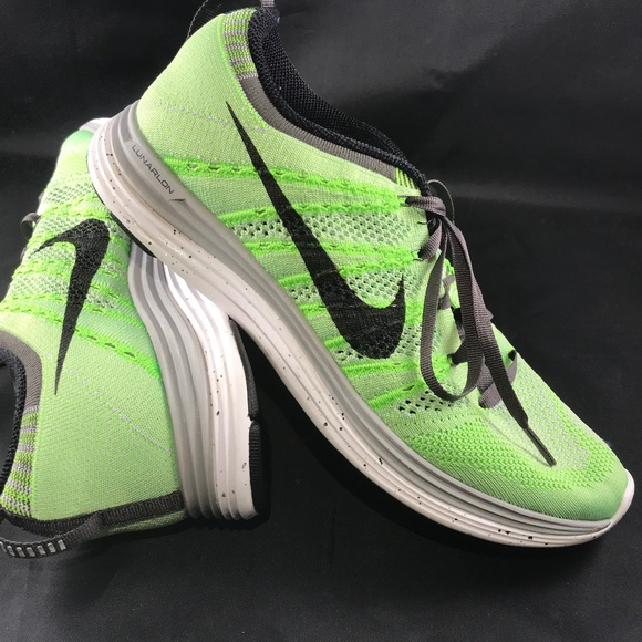 new product cead5 cb3da ... low cost nike flyknit lunar 1 lime green white womens us 9 7c00d eb5fa